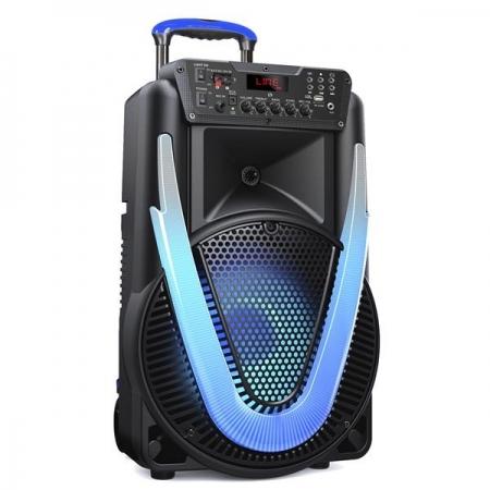 Caixa de Som SUNNY II 500W BT/AUX/SD/USB/FM/LED Multilaser SP395