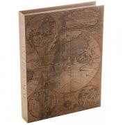 Caixa Livro Decorativa Papel Rigido Mapa Antigo 36X27X5CM Royal 61265