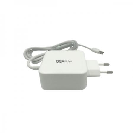 Carregador de Tomada Turbo USB-C OEX CG204 65W