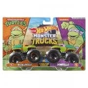 Carrinho HOT Wheels Monster TRUCK Michelangelo X Donatello Mattel FYJ64