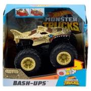 Carrinho HOT Wheels Monster TRUCK SHARK Wreak Marrom Mattel GCF94