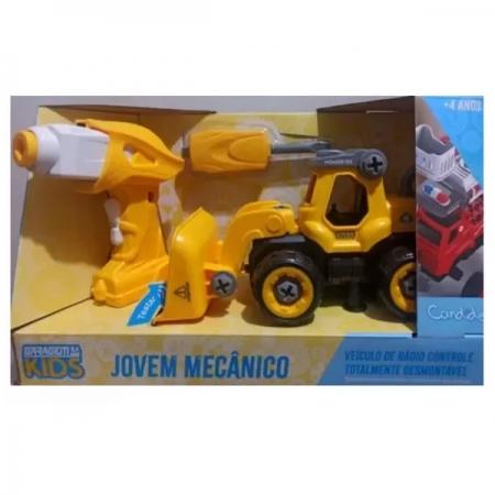 Carro Controle Remoto Jovem Mecanico RC Tooling Escavadeira Candide 3554