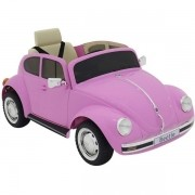Carro Eletrico Beetle 12V Rosa Belfix 914010