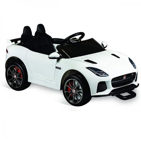Carro Eletrico com Controle 12V Jaguar Branco Bandeirante 2741