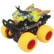 Carro Fricçao Quadriciclo CROSS Roda Amarela DM TOYS DMT5920