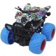 Carro Fricçao Quadriciclo CROSS Roda AZUL DM TOYS DMT5920