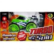 Carro Turbo SPIN com Controle Remoto DTC Verde 4261