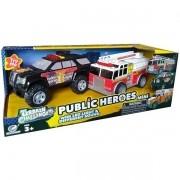 Carros Policia e Bombeiros com Som e LUZ SHINY TOYS 527