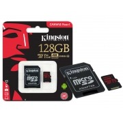 Cartao de Memoria Classe 10 Kingston SDCR/128GB Micro SDXC 128GB 100R/80W UHS-I U3 V30 Canvas React