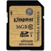 Cartao de Memoria Kingston SDHC 16GB Classe 10 Ultimate - SDA10/16GB