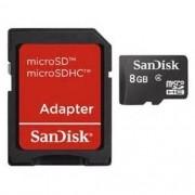 Cartao de Memoria Sandisk Micro SD 8GB C/ Adaptador - SDSDQM-008G-B35A