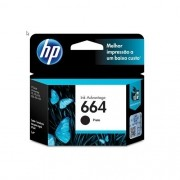 Cartucho HP 664 F6V29AB Preto 2,0 ML