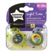 Chupeta NIGHT Time 18-36 Meses Verde e Cinza Tommee Tippee 2 Unidades 533359