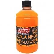 Cola para Slime GLOW Neon Laranja 500G Unidade Radex 7307