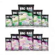 Combo: 10 Saco a Vácuo VAC BAG - 5 EXTRA + 5 Jumbo Ordene