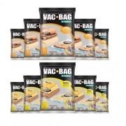 Combo: 10 Sacos a Vácuo VAC BAG - 5 Médios + 5 Grandes Ordene