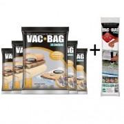Combo: 5 Sacos a Vácuo Grande 55 X 90  VAC BAG + Bomba Plastica Ordene