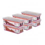 Conjunto 6 Caixas para Sapato Pequeno Ordene OR60050
