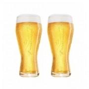 Conjunto de Copos Budweiser em Vidro para CHOPP 2PÇS 400ML Globimport