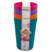 Conjunto de Copos Infantil 380ML 4 Unidades Colorido Sana Babies 9323