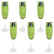 Conjunto de Taças Champanhe Gastro Cristal Verde 220ML Bohemia 57938