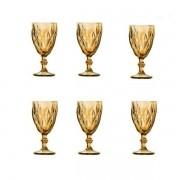 Conjunto de Taças Matelasse em Vidro 6 Peças 280ML AMBAR DYNASTY 23454