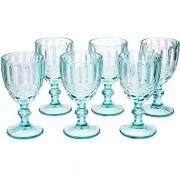 Conjunto de Taças para Agua 6 Peças Verre AZUL Tiffany Laço Mimo STYLE TC19103 6499
