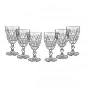 Conjunto de Taças para Agua 6 Peças Vitral Verre Clear Mimo STYLE TC14853 5094