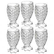 Conjunto de Taças para Agua Pineapple 6 Peças 200ML SODO-CALCICO LYOR 6643