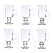 Conjunto de Taças para Cappuccino com ALÇA 114 ML 6 Peças LYOR 6629