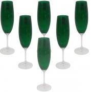 Conjunto de Taças para Champanhe 220ML ANNA 6 Peças Verde Bohemia 58275