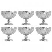 Conjunto de Taças para Sobremesa Diamond Cinza Metalizado 6 Peças 310ML LYOR 7628