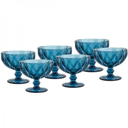 Conjunto de Taças para Sobremesa em Vidro Diamond 6 Peças 310ML LYOR 6512