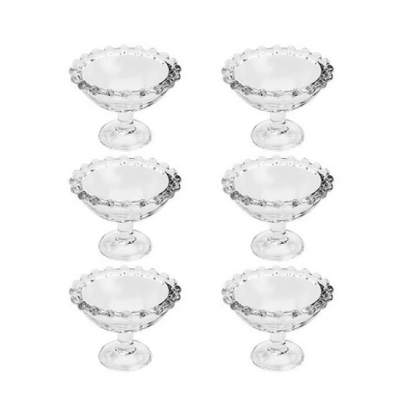 Conjunto de Taças para Sobremesa Pearl 6 Peças WOLFF 28390