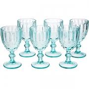 Conjunto de Taças para Vinho 6 Peças Verre AZUL Tiffany Laço Mimo STYLE TC19108 6504