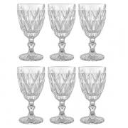Conjunto de Taças para Vinho 6 Peças Vitral Verre Clear 240ML Mimo STYLE TC14841 5082
