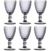 Conjunto de Tacas para Vinho SODO-CALCICO 265ML Bico de Abacaxi Transparente LYOR 6462
