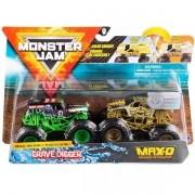 Conjunto de Veiculo Monster JAM Grave Digger X MAX-D SUNNY 2020