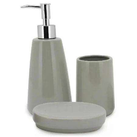 Conjunto para Banheiro Pale Verde 3 Peças Mimo STYLE BH20103 7089