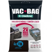 Kit com 4 Sacos a Vacuo TRIP BAG 60CM X 40CM VAC BAG Ordene OR56600