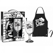 Conjunto Taça e Avental Super CHEF Brasfoot 10384