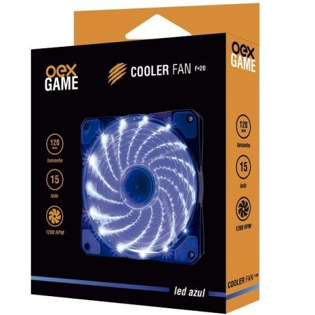 Cooler FAN 120MM AZUL 15 LEDS OEX F20