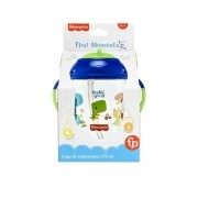 Copo de Treinamento Canudo Fisher Price FIRST Moments AZUL 270ML Multikids BB1016