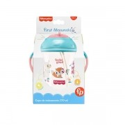 Copo de Treinamento Canudo Fisher Price FIRST Moments PINK 270ML Multikids BB1017