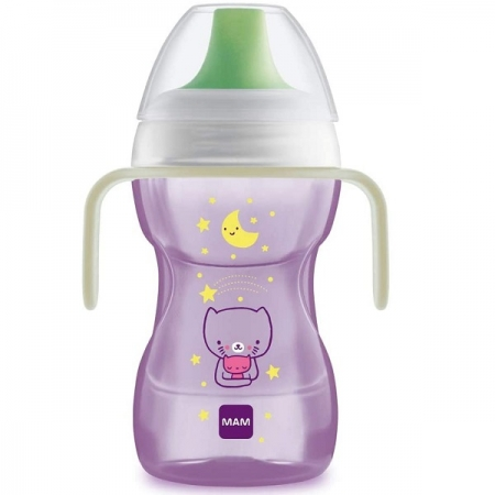 Copo de Treinamento FUN TO DRINK NIGTH 270ML Lilas MAM 4238