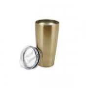 Copo Termico Parede Dupla INOX Bronze com Tampa 590ML Mimo STYLE AJ20037