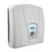 Dispenser para Papel Toalha 1/3 Dobras BRANCO/CINZA Nobre CITY 33650