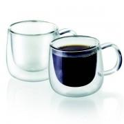 Dupla de Xicaras para Cafe Parede Dupla 80ML TCJ19157 Mimo STYLE 6678