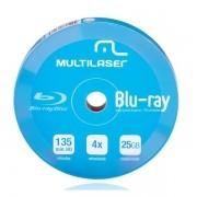 DVD-R4X 10 Unidades SHRINK BLU RAY Printable Multilaser DV057