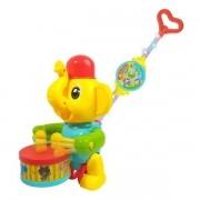 Empurra BABY Musical Elefante Amarelo Guta Guti DM TOYS DMB5901